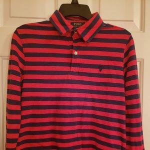 Boys Ralph Lauren Polo Shirt Long Sleeve L 14/16